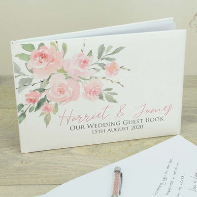 Personalised Bouquet Wedding Guest Book
