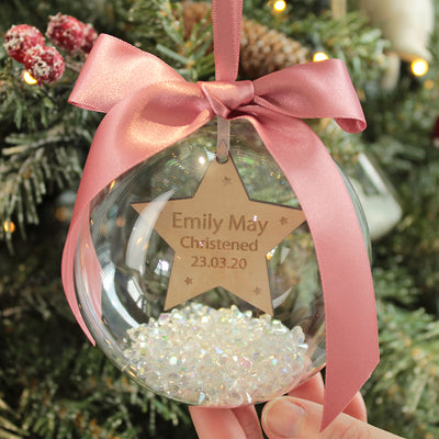 Christening Keepsake Christmas Bauble