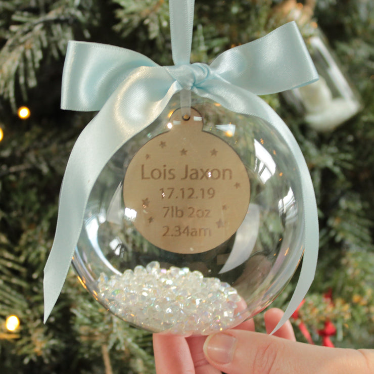 Baby Stats Christmas Bauble