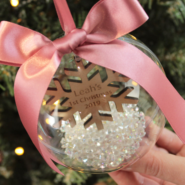Snowflake Baby's 1st Christmas Bauble
