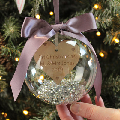1st Christmas as Mr & Mrs Wedding Bauble