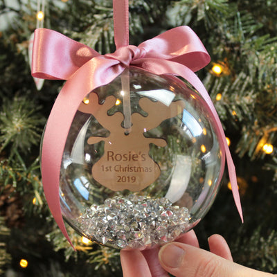 Reindeer Baby's 1st Christmas Bauble