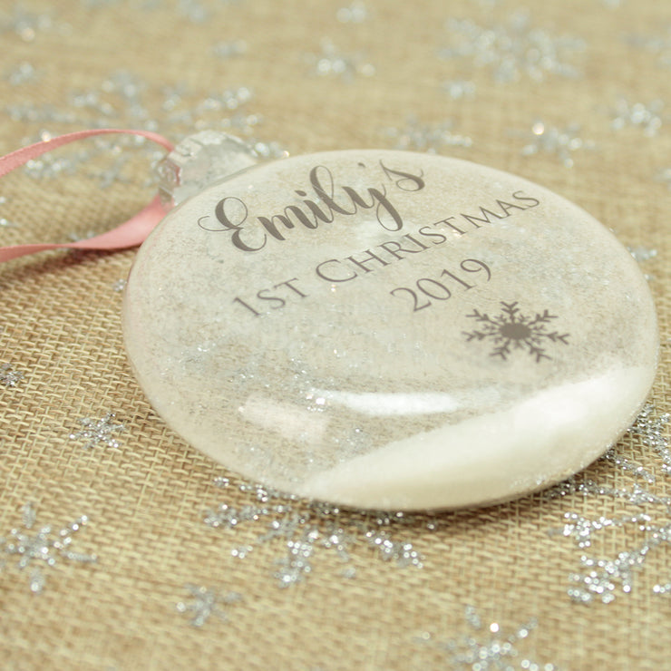 Glass Baby's 1st Christmas Bauble