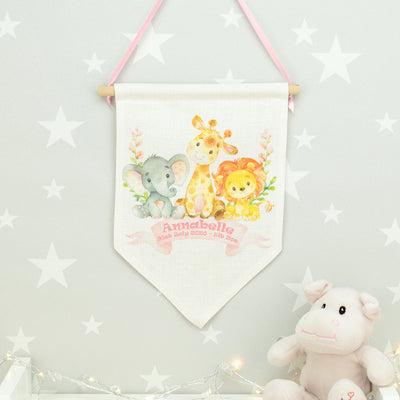 Jungle Animal Wall Hanging Flag
