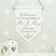 Welcome to the Wedding Flag