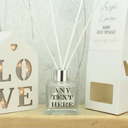 Personalised 'Any Text' Reed Diffuser