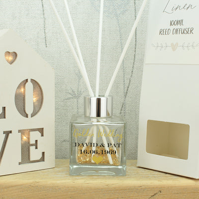 Personalised Wedding Anniversary Reed Diffuser