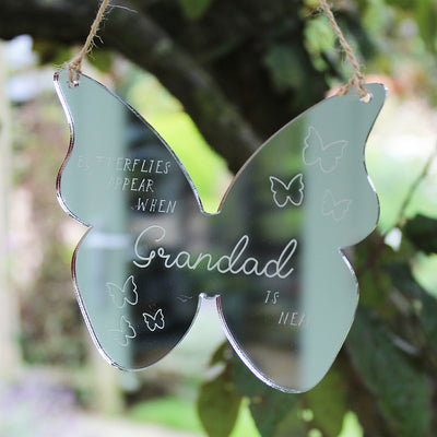Personalised Butterfly Mirror Remembrance Keepsake