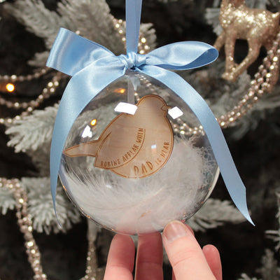 Robin Remembrance Christmas Bauble