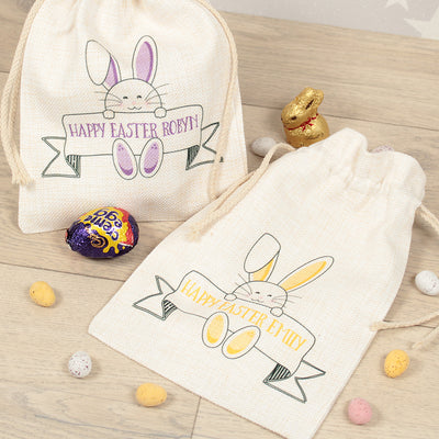 Personalised Bunny Banner Easter Gift Bag