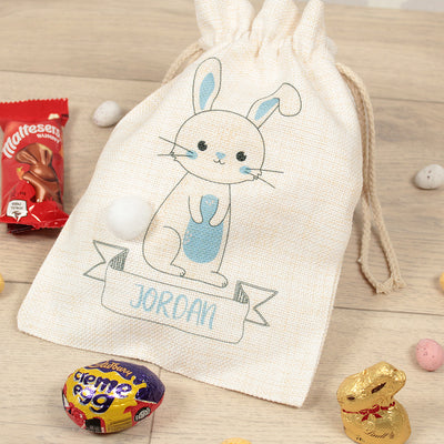 Personalised Pom Pom Bunny Easter Gift Bag