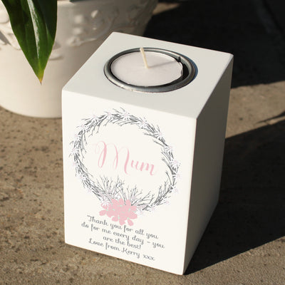 Floral Wreath Tealight Holder
