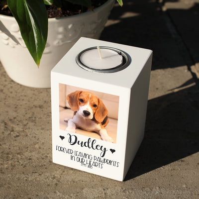 Pet Photo Memorial Tealight Holder