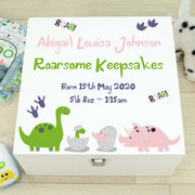 Dinosaur Wooden Baby Keepsake Memory Box