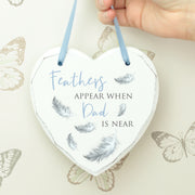 Feathers Appear Remembrance Heart