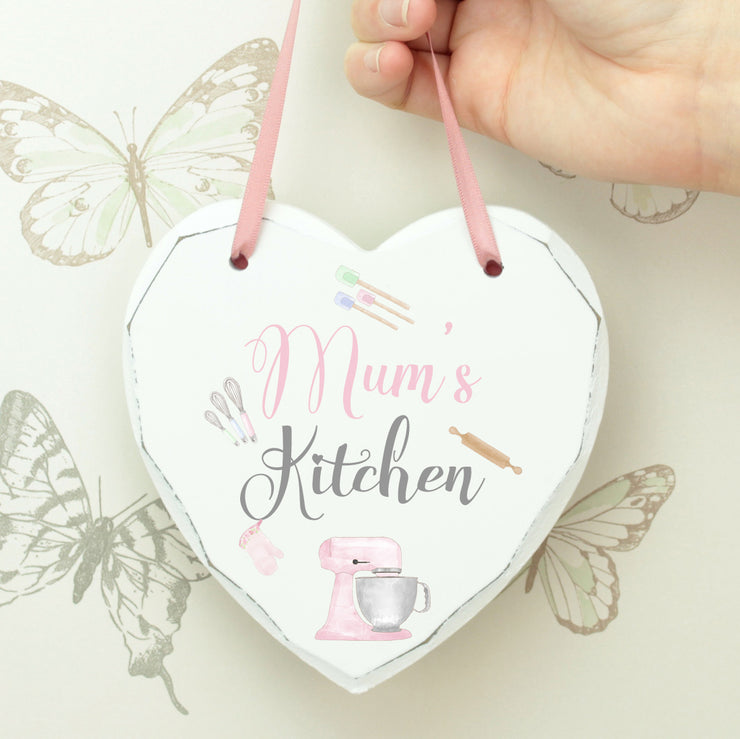 Personalised Kitchen Hanging Heart