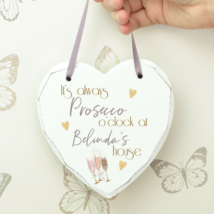 Personalised Prosecco Hanging Heart