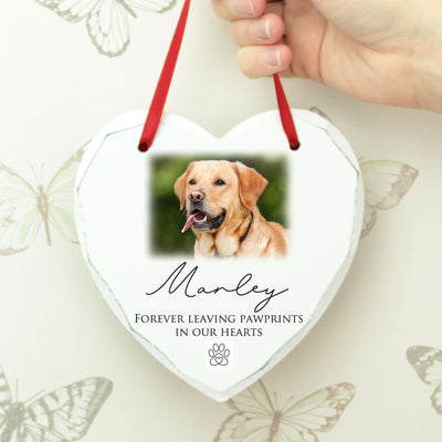 Pet Photo Remembrance Heart