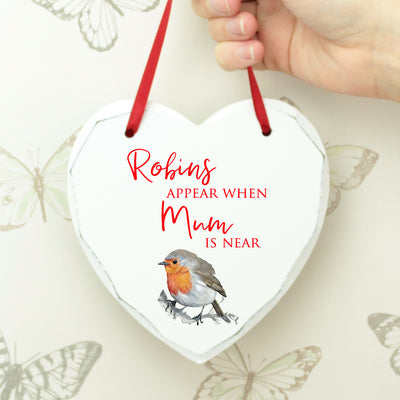 Robin Remembrance Heart