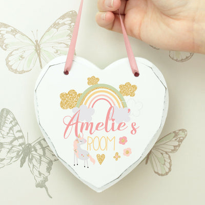 Personalised Rainbow Hanging Heart