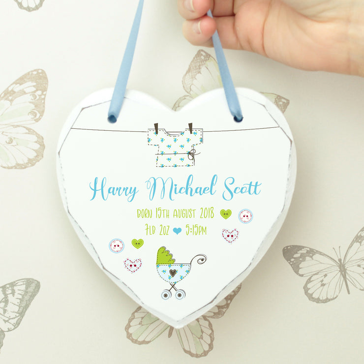 Vintage Baby Hanging Heart