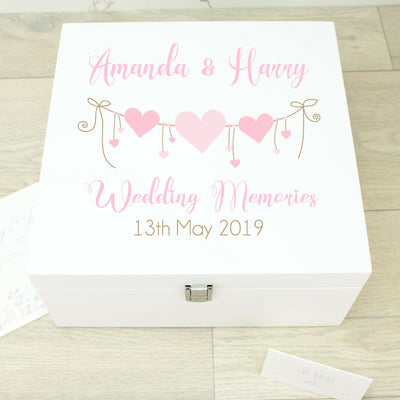 Heart String Wooden Keepsake Memory Box
