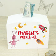 Personalised Space Theme Money Box