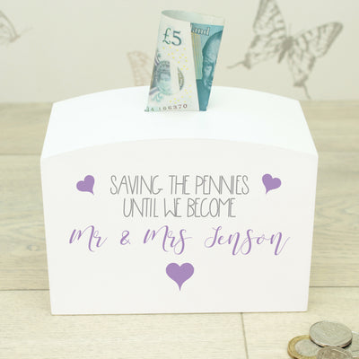 Future Mr & Mrs Wedding Money Box
