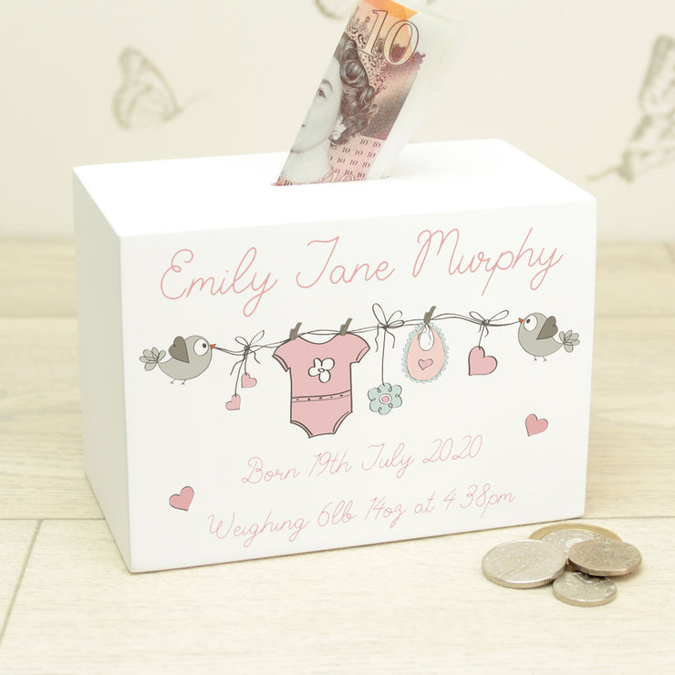 Baby Grow Bunting Money Box