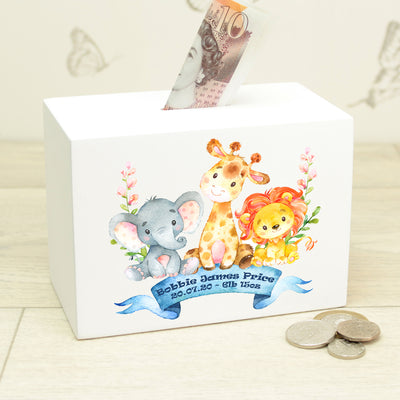 Jungle Animal Baby Money Box