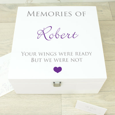 Condolence Wooden Keepsake Memory Box