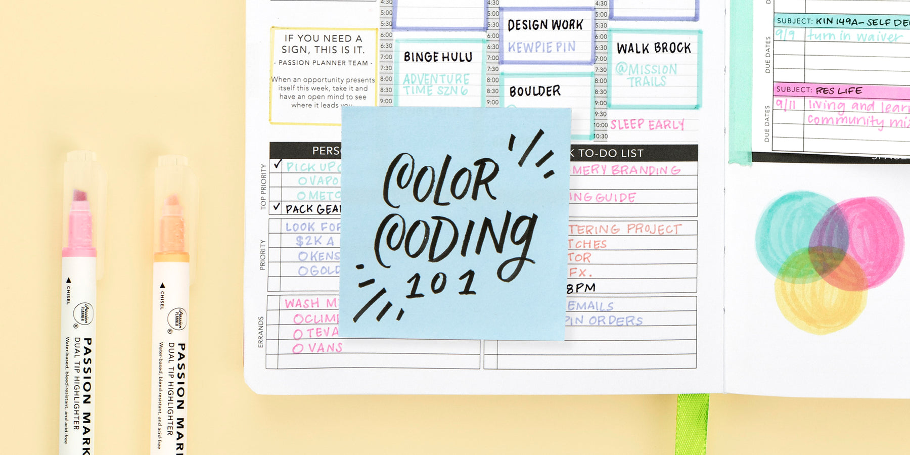 4 Color Coding Planner Tips to Keep You Organized with Passion Markers