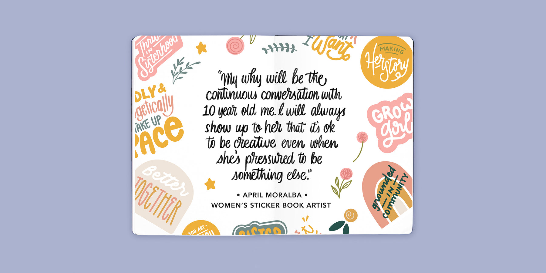 Sticker Book Artist Interview: April Moralba