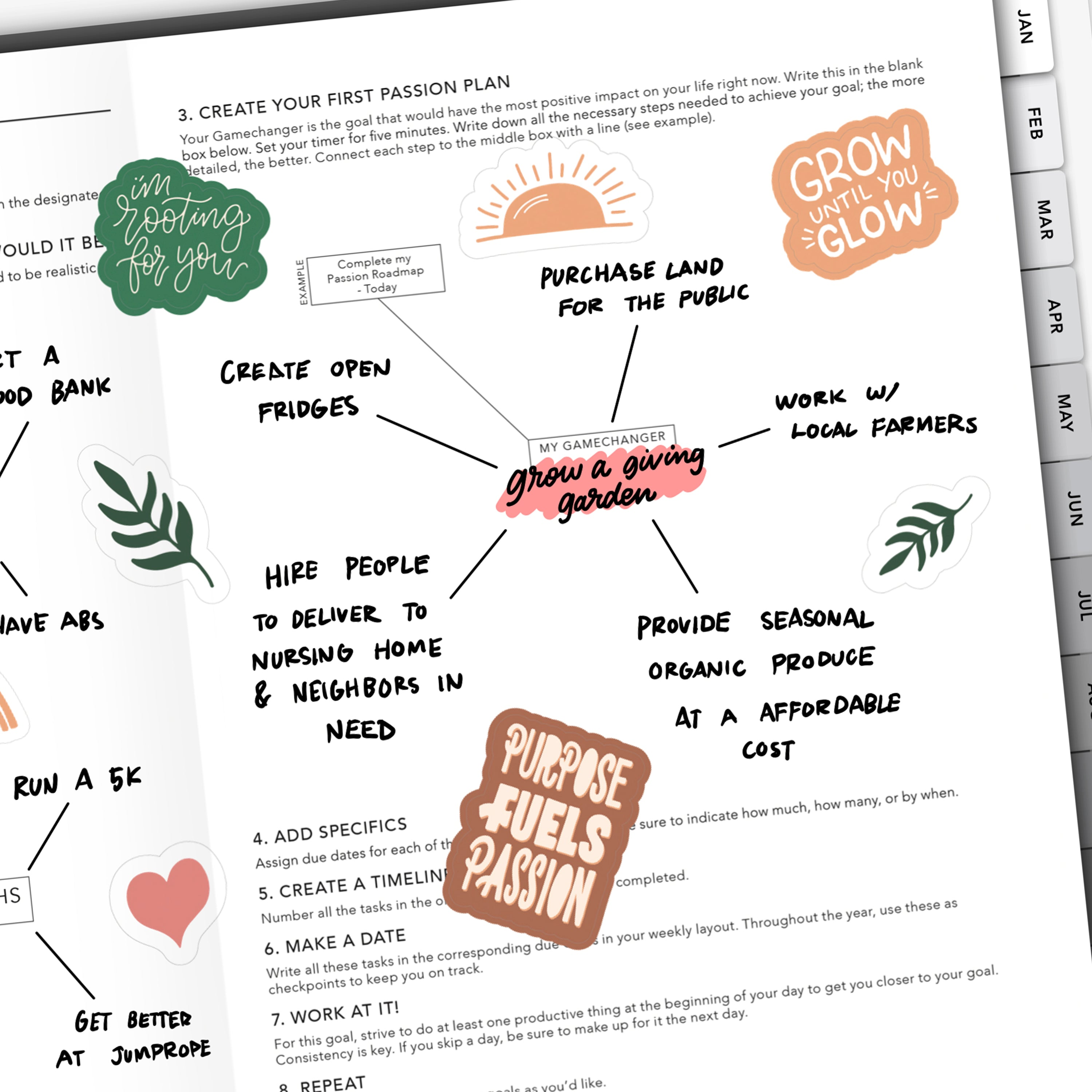 Passion Roadmap on Passion Planner Digital