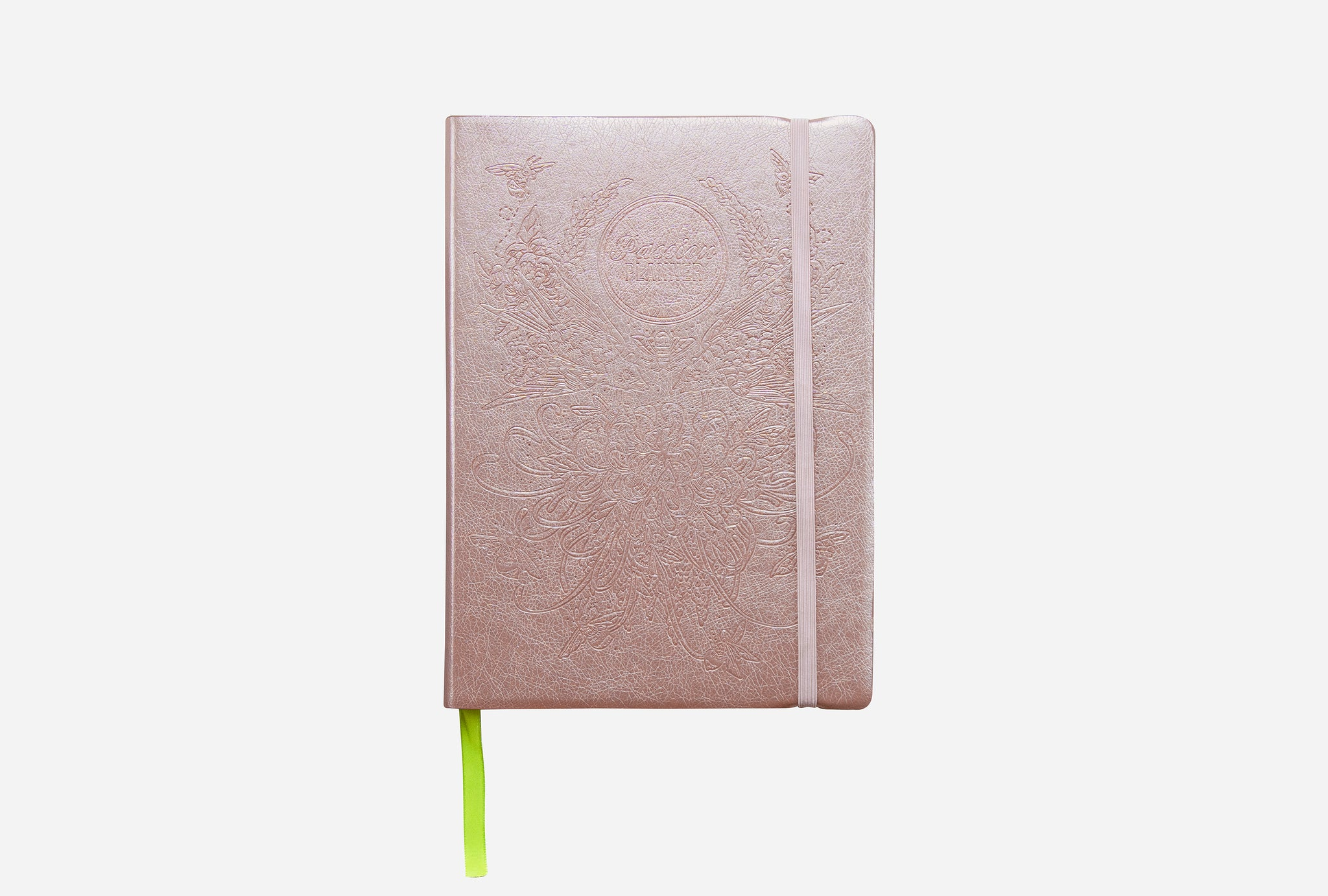 Passion Planner Weekly in Birds and Bees Rose Gold