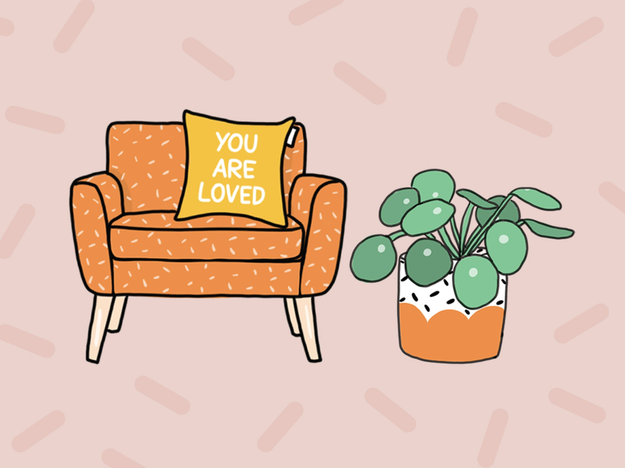 """You Are Loved"" Couch Pillow Sticker"