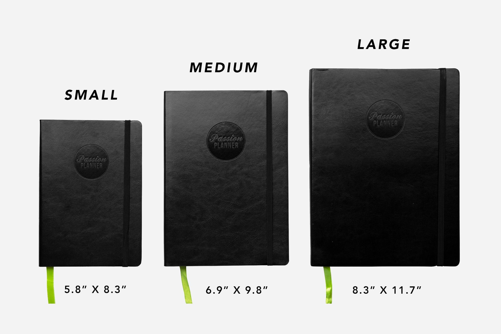 Passion Planner Size Differences