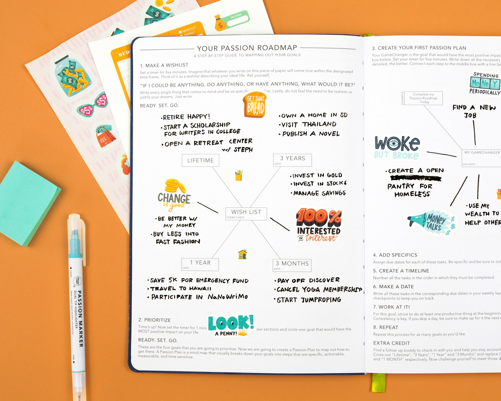 Passion Roadmap inside Passion Planner