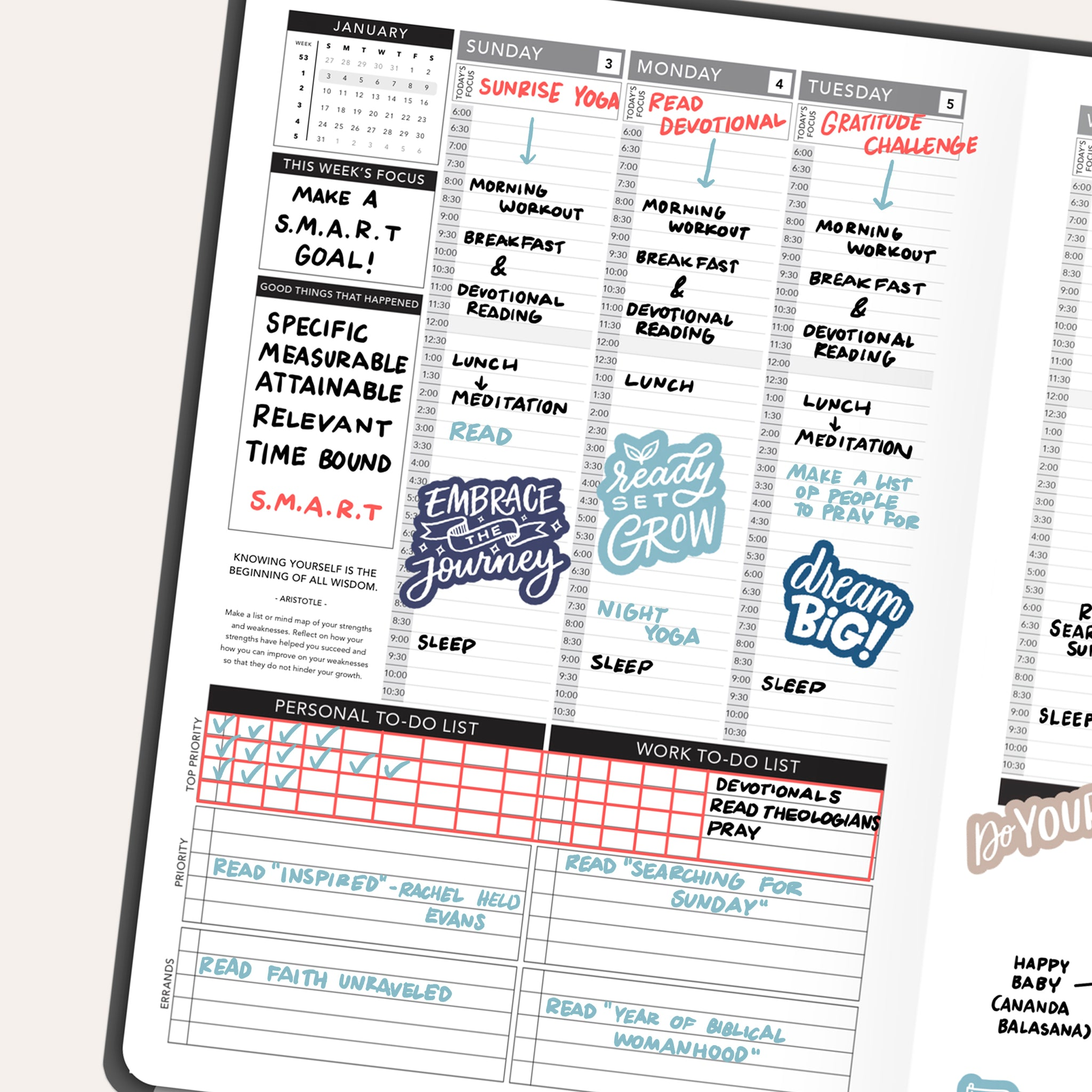 Passion Planner Weekly Layout