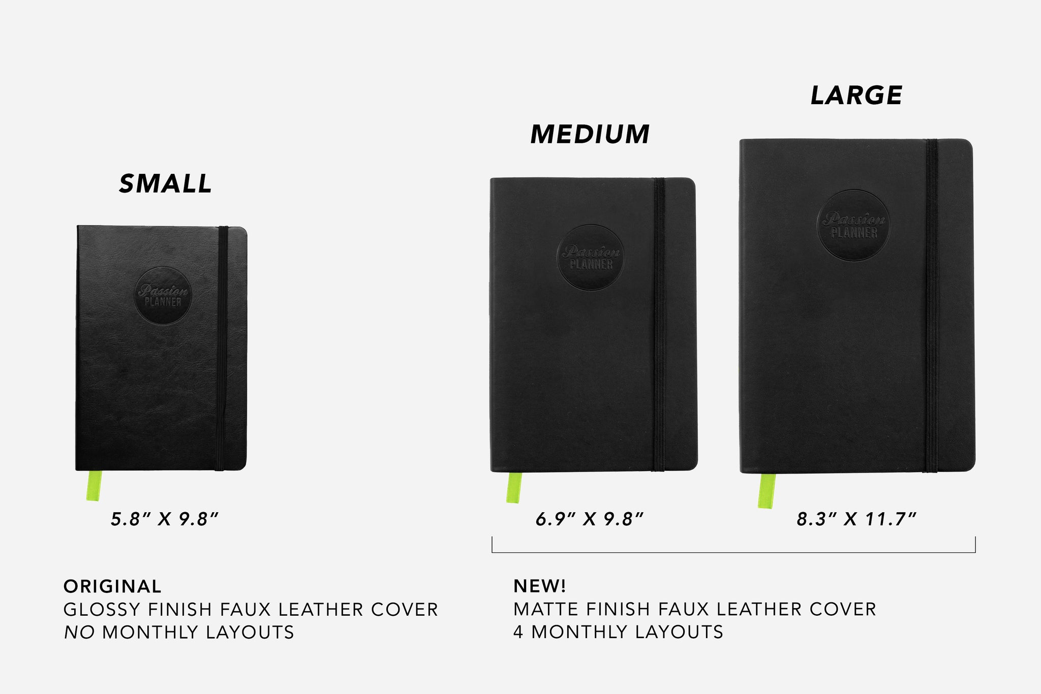 Passion Planner Daily Size Differences