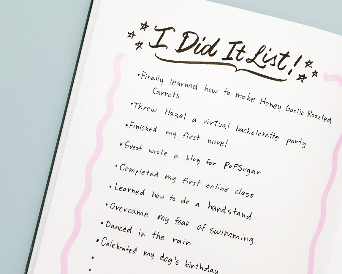 "Create an ""I Did It List"" in the dotted pages of your Passion Planner at the end of each year. List your accomplishments, big or small!"