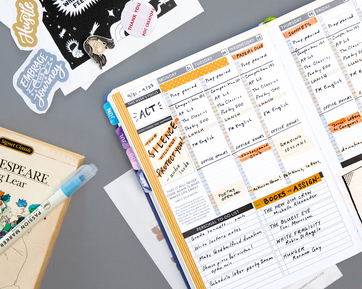 Passion Planner Idea based on Mr. Morgan from 10 Things I Hate About You