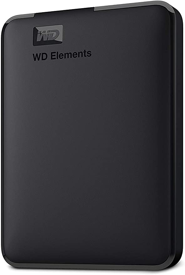 External Hard Drive Against White Background