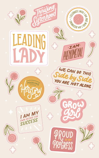 Women's Empowerment Sticker Book Designs by April Moralba