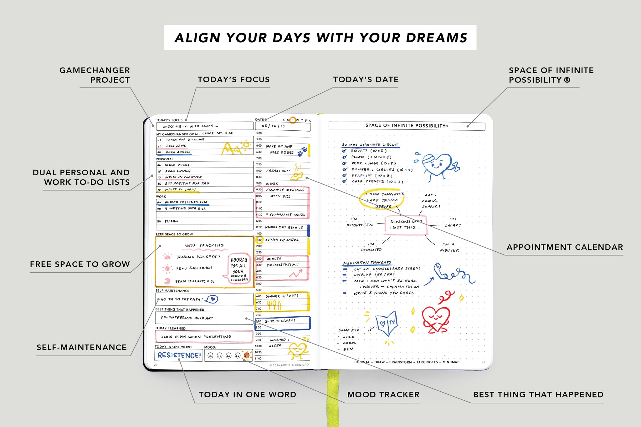 Passion Planner Daily Infographic