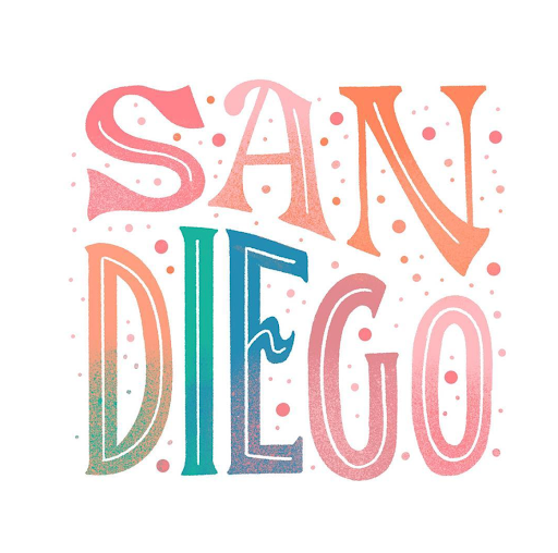 """San Diego"" Lettering by April Moralba"