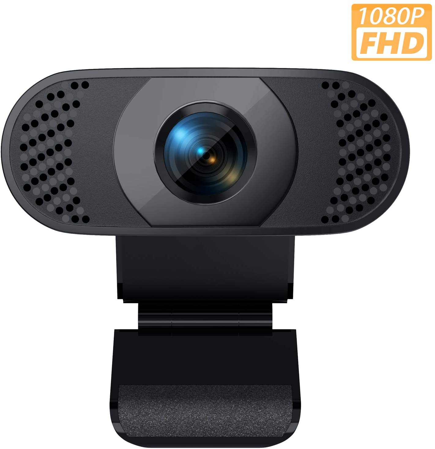 Black HD Webcam Against White Background