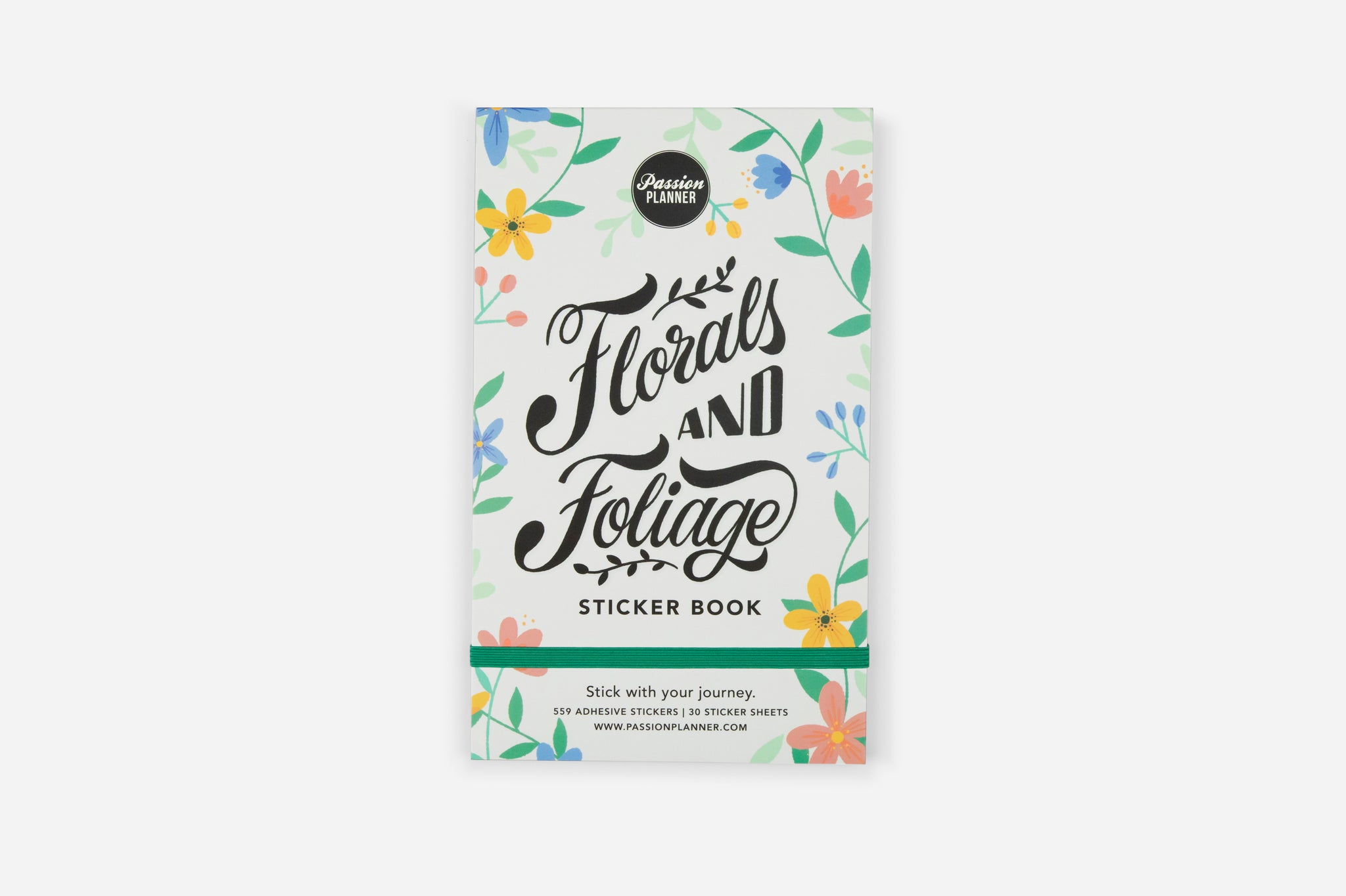 Flower Stickers - Florals and Foliage Sticker Book by Passion Planner