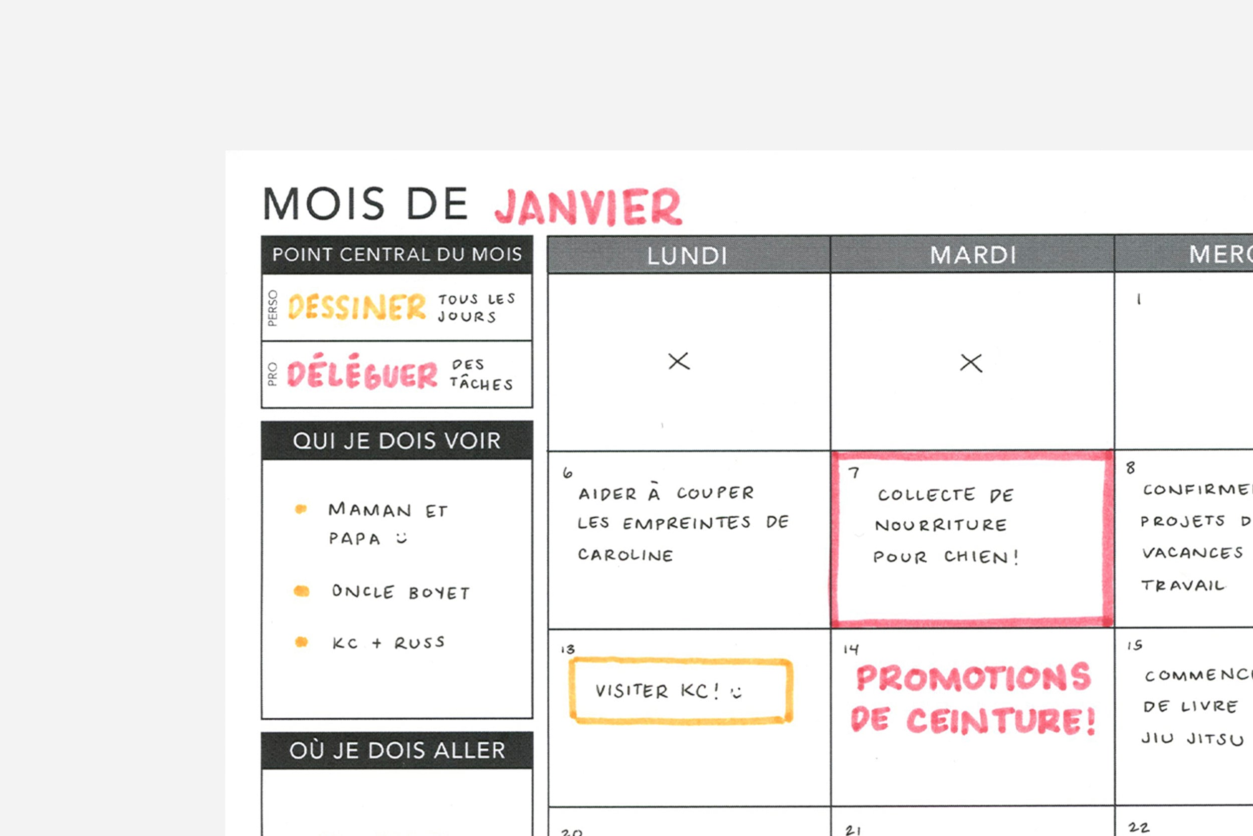 Weekly Undated French - Passion Planner