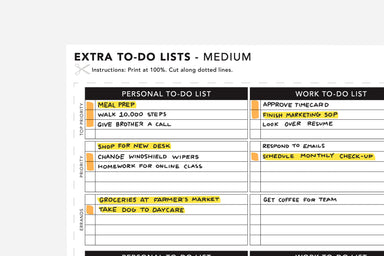 Extra To-Do List - Passion Planner